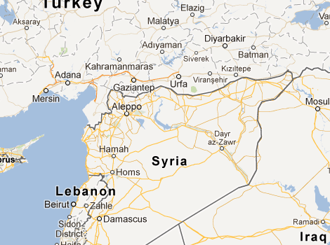 Regime Forces Prevent Palestinians From Travelling To Turkey And - Map of syria and turkey